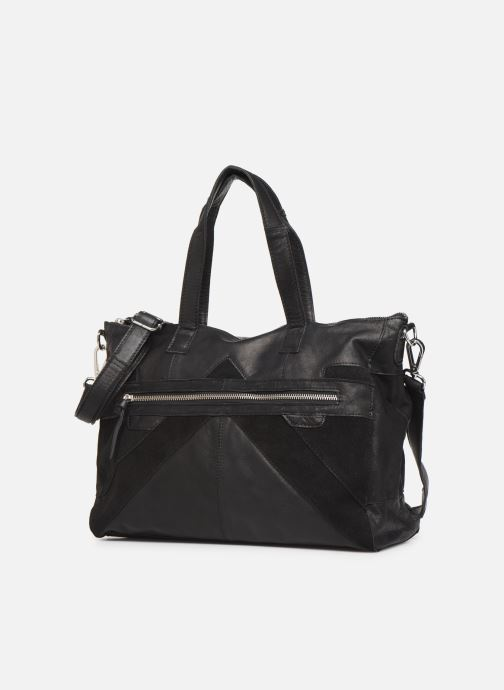 Handtassen Pieces Ingrid leather daily bag Zwart model