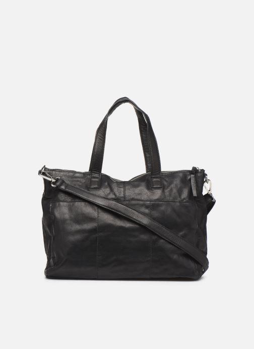 Handtaschen Pieces Ingrid leather daily bag schwarz ansicht von vorne