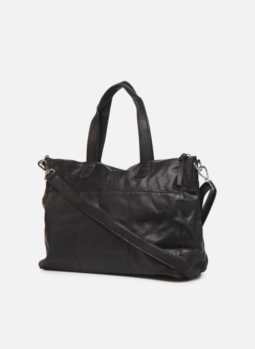 Sacs à main Pieces Ingrid leather daily bag Noir vue droite