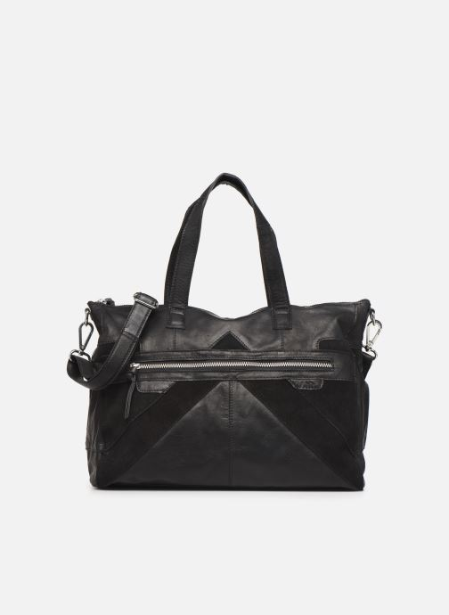 Handtaschen Pieces Ingrid leather daily bag schwarz detaillierte ansicht/modell