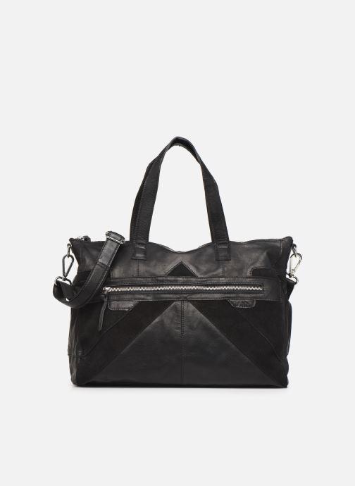 Handtassen Pieces Ingrid leather daily bag Zwart detail