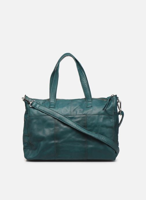 Bolsos de mano Pieces Ingrid leather daily bag Azul vista de frente