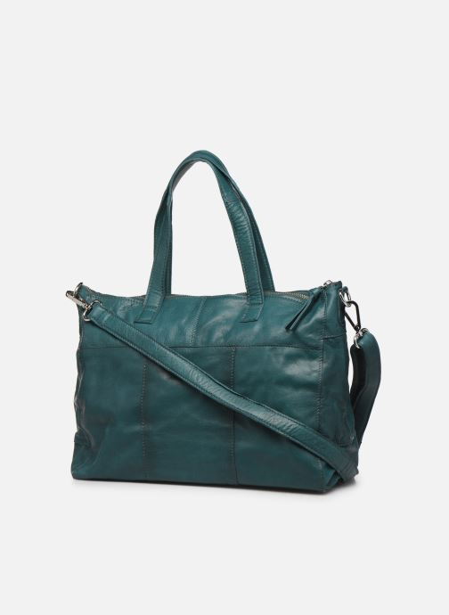Bolsos de mano Pieces Ingrid leather daily bag Azul vista lateral derecha