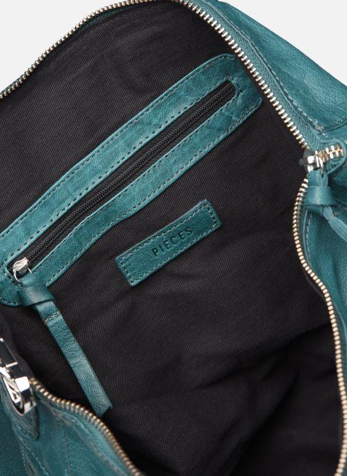 Bolsos de mano Pieces Ingrid leather daily bag Azul vistra trasera
