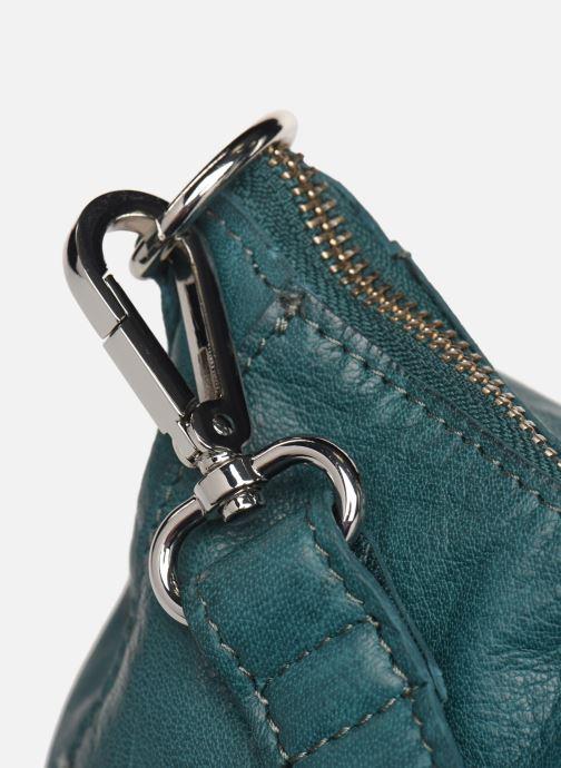 Handtaschen Pieces Ingrid leather daily bag blau ansicht von links