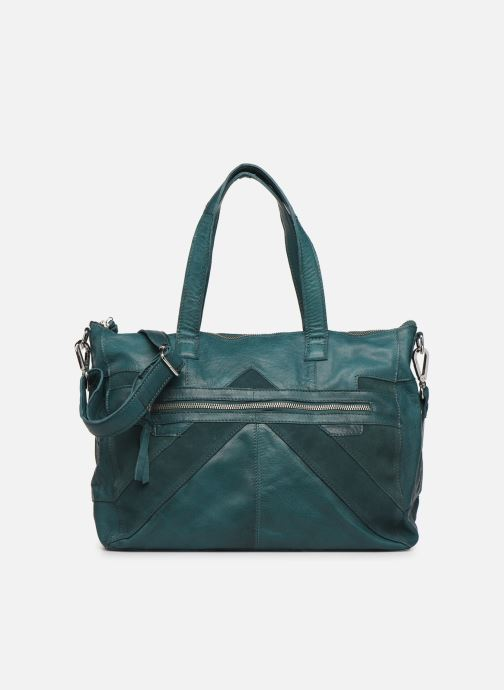 Bolsos de mano Pieces Ingrid leather daily bag Azul vista de detalle / par