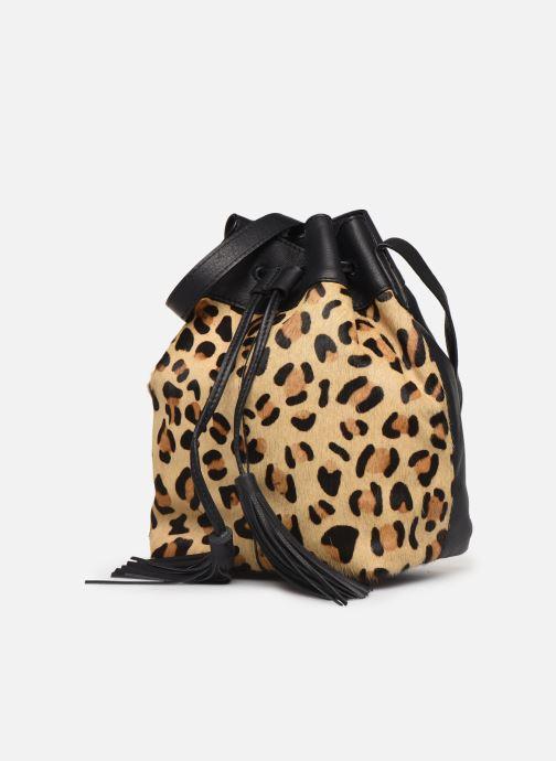Sacs à main Pieces Illen Tighten Bag Marron vue portées chaussures