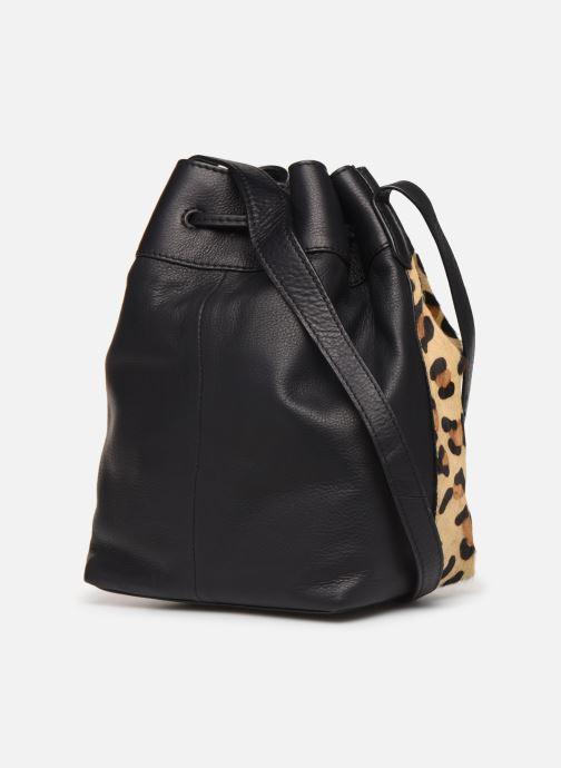Handtassen Pieces Illen Tighten Bag Bruin rechts