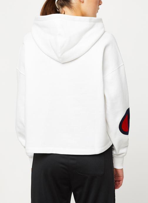 Vêtements Champion Hooded sweatshirt big logo Rose vue portées chaussures
