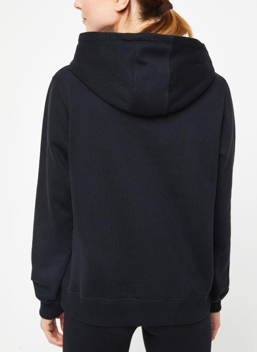 Vêtements Champion Large script logo Hoodeed sweatshirt Noir vue portées chaussures