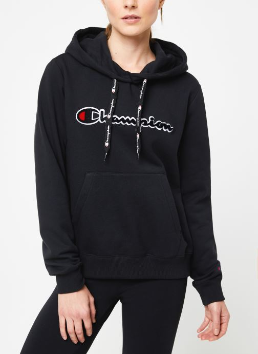 Vêtements Champion Large script logo Hoodeed sweatshirt Noir vue droite
