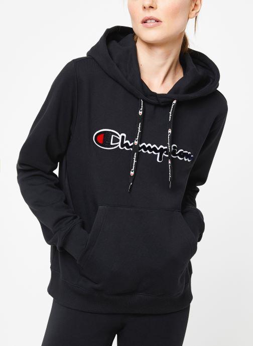 Vêtements Champion Large script logo Hoodeed sweatshirt Noir vue détail/paire