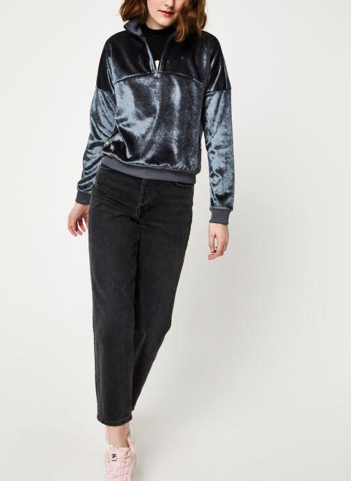 Vêtements Champion Half zip sweatshirt Gris vue bas / vue portée sac