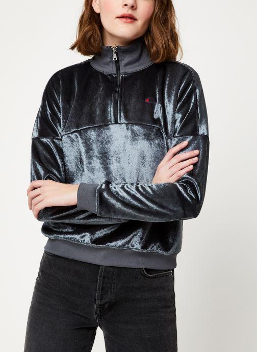 Vêtements Champion Half zip sweatshirt Gris vue droite