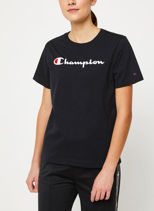 Vêtements Champion Crewneck t-shirt W Noir vue droite