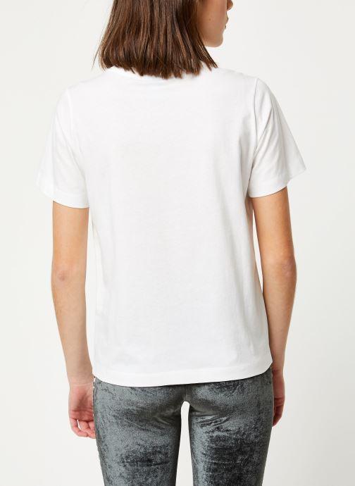 Kleding Champion Crewneck t-shirt W Wit model
