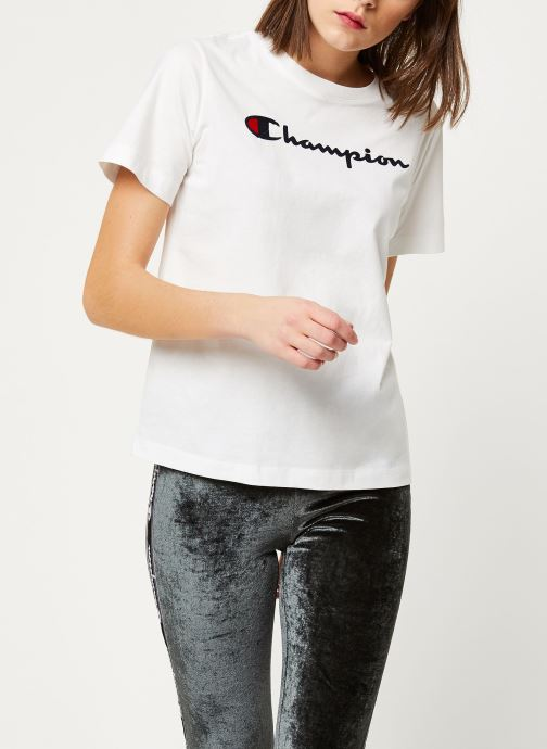 Kleding Champion Crewneck t-shirt W Wit detail