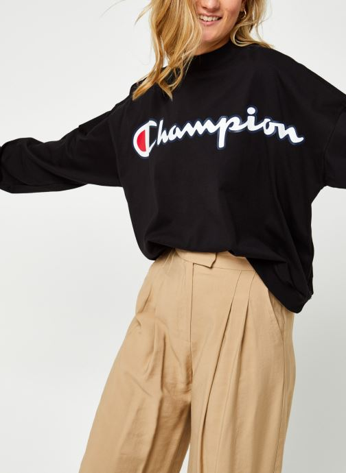 Vêtements Champion High neck t-shirt Noir vue détail/paire