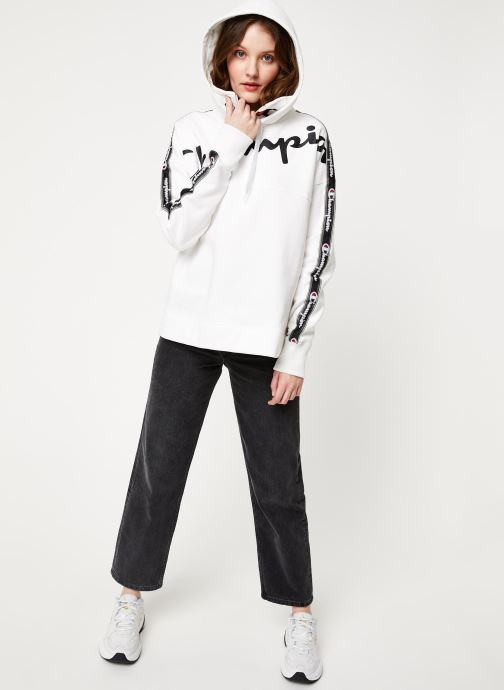Vêtements Champion Hooded sweatshirt Blanc vue bas / vue portée sac