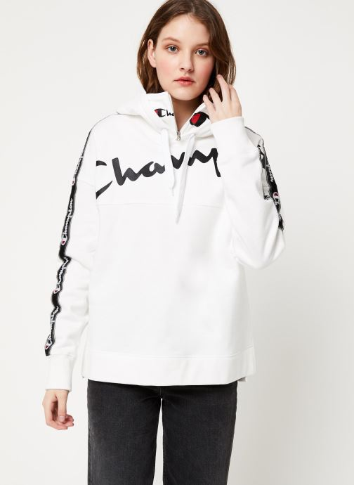 Vêtements Champion Hooded sweatshirt Blanc vue droite