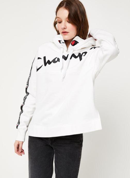 Vêtements Champion Hooded sweatshirt Blanc vue détail/paire