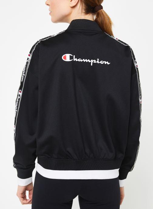 Vêtements Champion Bomber jacket Noir vue portées chaussures