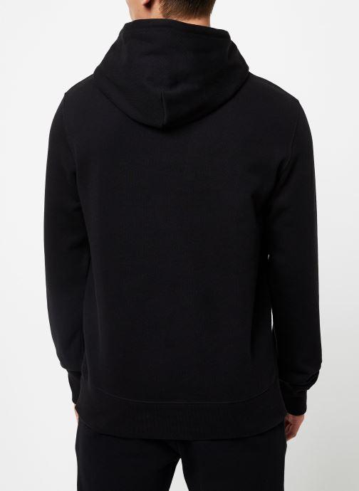 Vêtements Champion Large script logo  Champion Hoodeed sweatshirt Noir vue portées chaussures