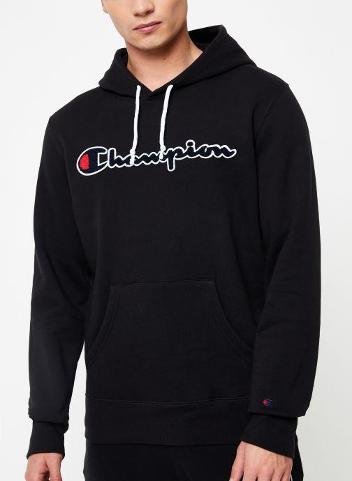 Vêtements Champion Large script logo  Champion Hoodeed sweatshirt Noir vue détail/paire