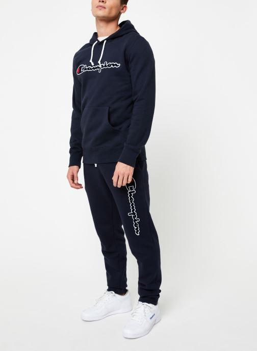 Vêtements Champion Champion Large Script Logo Hooded Sweatshirt Bleu vue bas / vue portée sac