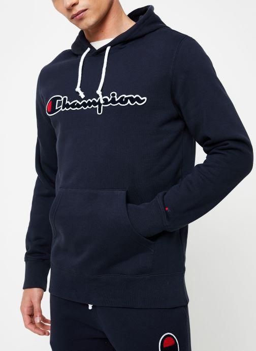 Vêtements Champion Champion Large Script Logo Hooded Sweatshirt Bleu vue droite