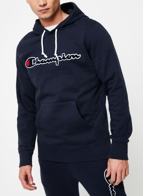 Vêtements Champion Champion Large Script Logo Hooded Sweatshirt Bleu vue détail/paire