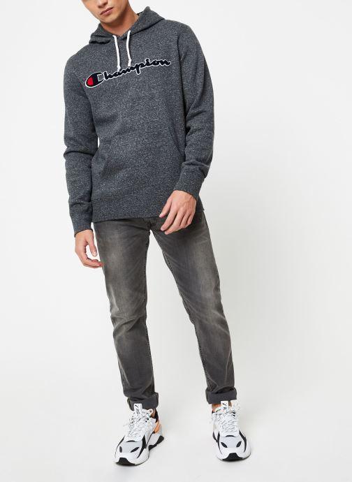 Kleding Champion Champion Large Script Logo Hooded Sweatshirt Grijs onder