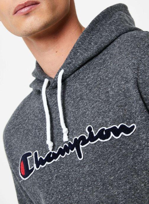 Kleding Champion Champion Large Script Logo Hooded Sweatshirt Grijs voorkant
