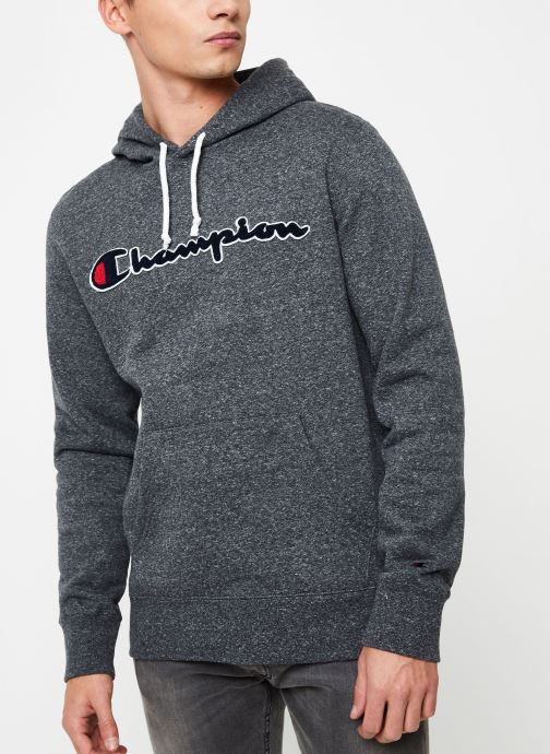 Kleding Champion Champion Large Script Logo Hooded Sweatshirt Grijs rechts