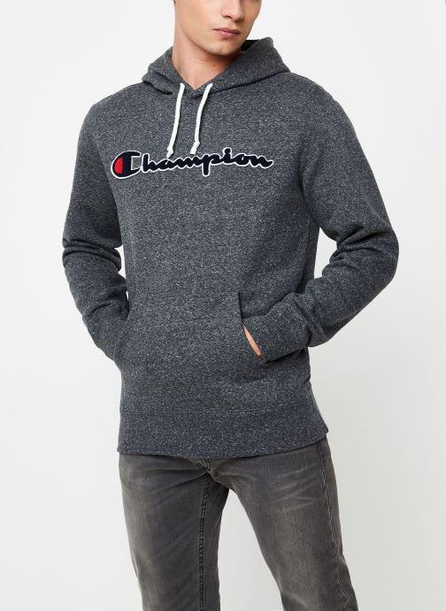 Kleding Champion Champion Large Script Logo Hooded Sweatshirt Grijs detail