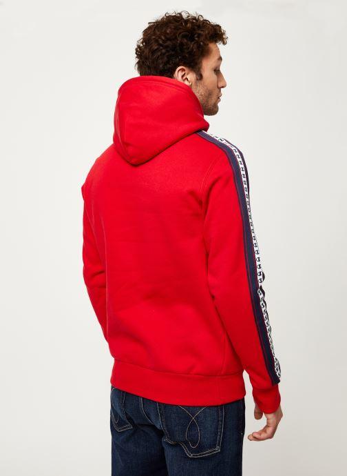 Kleding Champion Champion Large Script Logo Hooded Sweatshirt Rood model