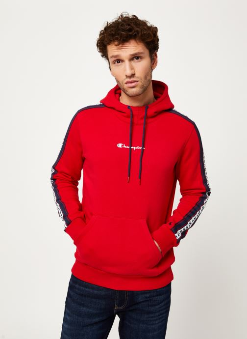 Kleding Champion Champion Large Script Logo Hooded Sweatshirt Rood detail