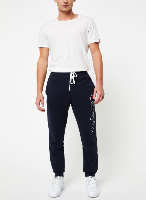 Vêtements Champion Rib cuff pants big logo Bleu vue bas / vue portée sac