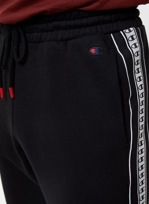 Kleding Champion Rib cuff pants big logo Zwart voorkant