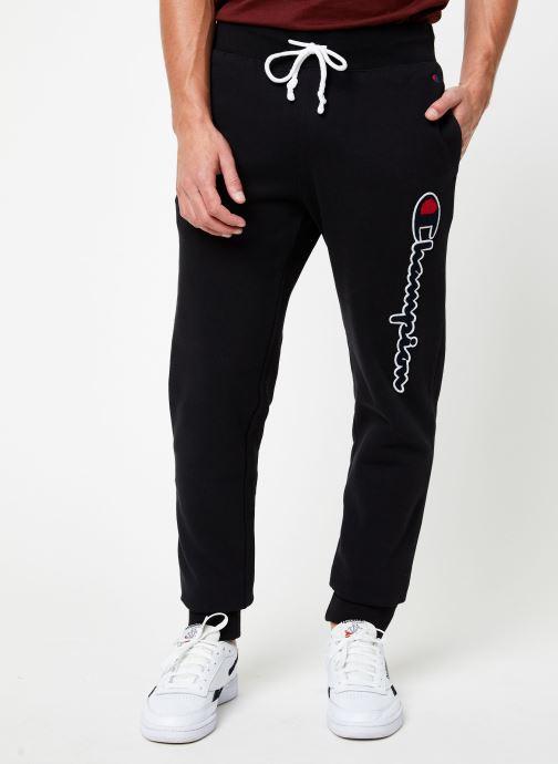 Vêtements Champion Rib cuff pants big logo Noir vue détail/paire