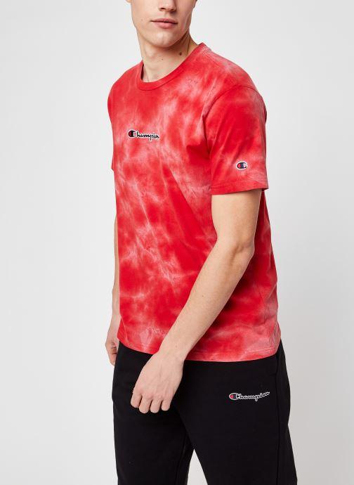 Kleding Champion Crewneck t-shirt M Rood detail
