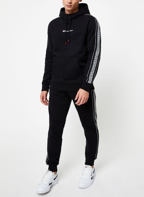 Vêtements Champion Hodeed sweatshirt small logo Noir vue bas / vue portée sac
