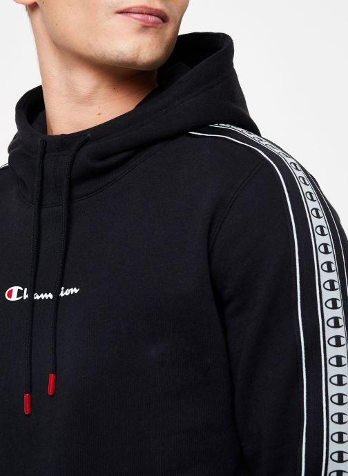 Vêtements Champion Hodeed sweatshirt small logo Noir vue face
