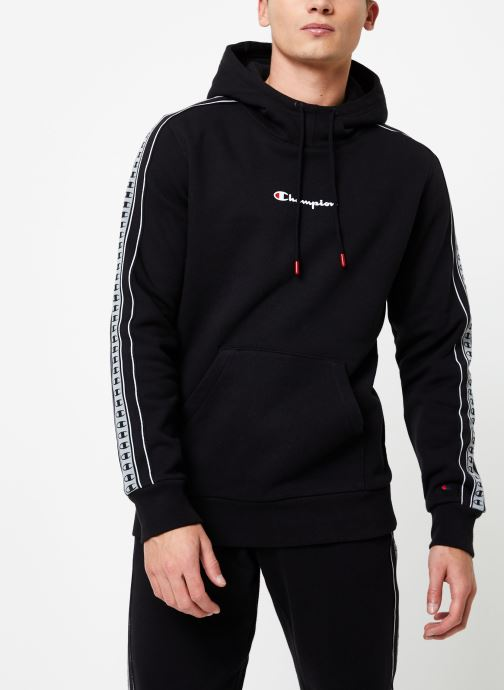 Vêtements Champion Hodeed sweatshirt small logo Noir vue droite