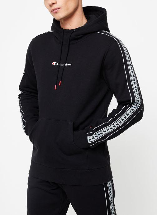 Vêtements Champion Hodeed sweatshirt small logo Noir vue détail/paire