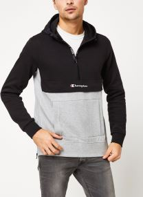 Half zip hooded sweatshirt