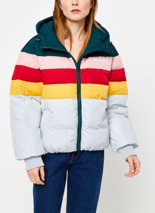 Vêtements Wrangler Rainbow Puffer Bleu vue droite