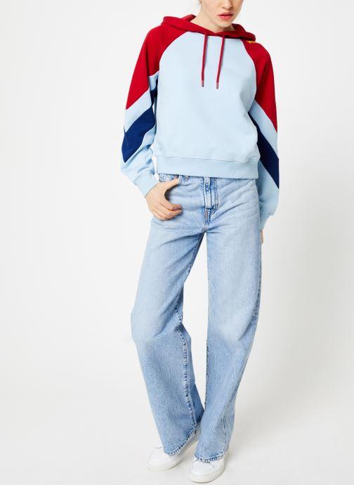 Vêtements Wrangler Raglan Sweat Bleu vue bas / vue portée sac