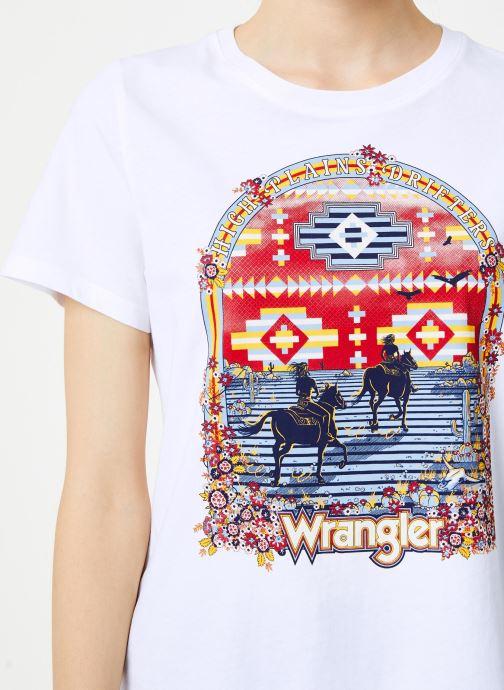 Vêtements Wrangler Round T Blanc vue face