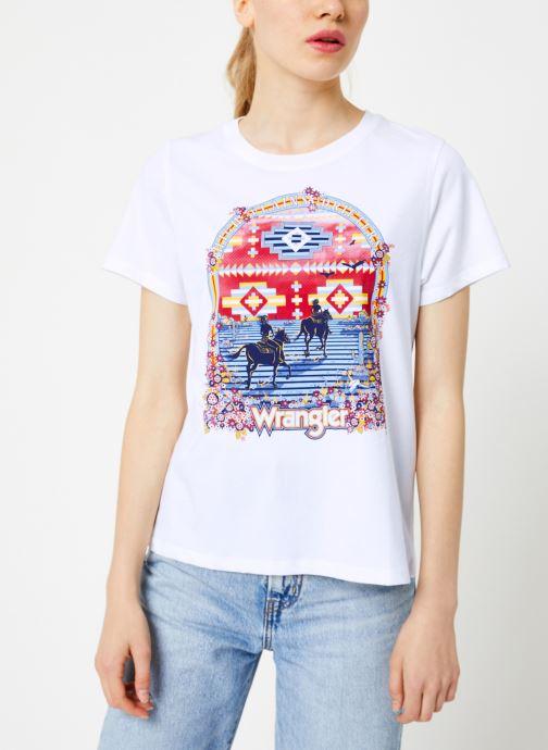 Vêtements Wrangler Round T Blanc vue droite